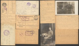Germany - Lot Of 5 Postcard Prisoner Of War POW - Censor - Covers & Documents