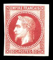 * N°10, 80c Rose. TB (certificat)  Qualité: *  Cote: 1200 Euros - Napoléon III