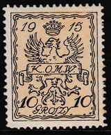 POLAND 1915 Warsaw Local Fi II Mint Hinged - Variétés & Curiosités