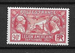 FRANCE 1927     N° 244    Visite De La Légion Américaine  NEUF - Neufs