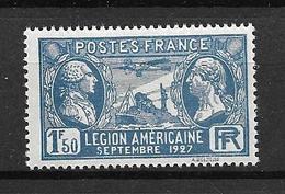 FRANCE 1927     N° 245    Visite De La Légion Américaine  NEUF - Neufs