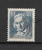FRANCE 1934     N° 295    Joseph Marie Jacquard  NEUF - Neufs