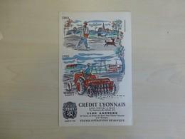 Tracteur Et Charrue 1955, Crédit Lyonnais, Illustrateur Hervé Baille, Ref 1762 ; BU 03 - Automóviles