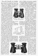 NOUVELLES JUMELLE De GALILEE  1922 - Ciencia & Tecnología