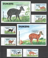 F540 !!! ONLY ONE IN STOCK GHANA FAUNA WILD ANIMALS DUIKERS #2081-88 MICHEL 27 EURO 2BL+1SET MNH - Postzegels