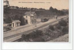 Environs De GUER - PORCARO - La Gare - Très Bon état - Andere Gemeenten