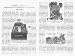 """MACHINE à CALCULER """" BARRETT """"  IMPRIMANT LE RESULTAT DES OPERATIONS 1922 - Sciences & Technique"""