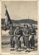 MAROC - LE DRAPEAU 8E RÉGIMENT E ZOUAVES - GUERRE D'ALGÉRIE - 1954 - Morocco