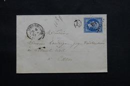 FRANCE - Enveloppe De Athis-de-l'Orne Pour Caen En 1861, Affranchissement Napoléon 20ct PC 153  - L 60363 - 1849-1876: Période Classique