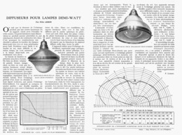 DIFFUSEURS Pour LAMPES DEMI-WATT  1922 - Ciencia & Tecnología