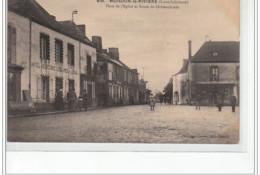 MOISDON LA RIVIERE - Place De L'église Et Route De Châteaubriant - Très Bon état - Moisdon La Riviere