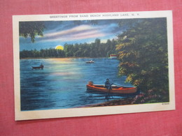 Greetings From Sand Beach  Highland Lake New York >  Ref 4035 - Lake George