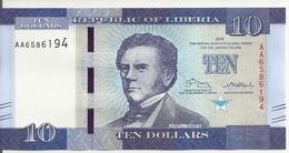 LIBERIA 10 DOLLARS 2016 UNC P 32 A - Liberia