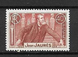 FRANCE 1936     N° 318    22ème Anniv.de La Mort De Jean Jaurès   NEUF - Neufs