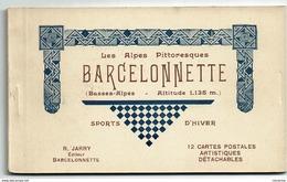 04 Carnet Complet De 12 Cartes: Barcelonnette R. Jarry édit. à Barcelonnette - Barcelonnette