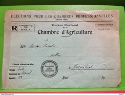Enveloppe, Élection Pour Les Chambres Professionnelles 1933 - Covers & Documents