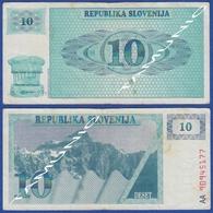 SLOVENIA 10 Tolarjev 1990 TRIGLAV MOUNTAIN - Slovénie