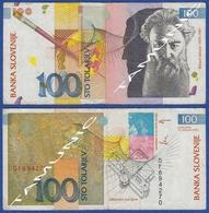 SLOVENIA 100 Tolarjev 1992 RIHARD JAKOPIC - Slovénie