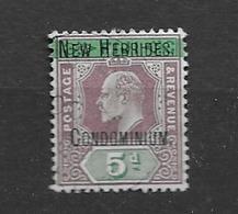 1908 USED New Hebrides Mi 4 - English Legend