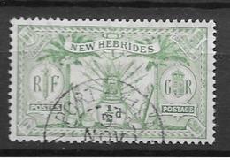 1911 USED New Hebrides Mi 27 - English Legend
