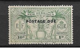 1925 USED New Hebrides Porto  Mi 1 - Used Stamps