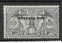 1925 USED New Hebrides Porto  Mi 2 - Used Stamps