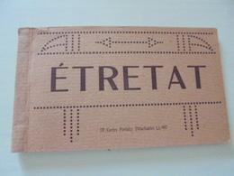 CARNET DE 12 CARTES POSTALES ETRETAT - Etretat