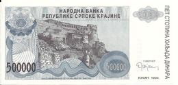 CROATIE 500000 DINARA 1993 UNC P R32 - Kroatië