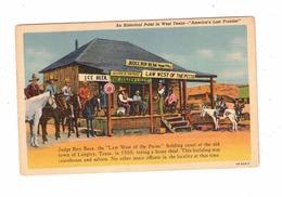 LANGTRY, Texas, USA, Judge Roy Bean Holding Court, Old Linen Postcard - Etats-Unis
