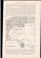Article Coupure De Presse 6 Pages 2 Gravures 1 Carte Année 1888 La Grande Muraille De Chine - Ohne Zuordnung