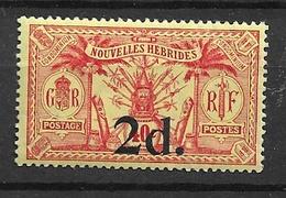1920 MNH New Hebrides  Mi 63 - Used Stamps