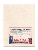 Buvard Les Piles Mazda De La Cipel - Format : 13.5x10 Cm - Accumulators