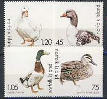 MDB-BK5-263 MINT ¤ NORFOLK ISLAND 2000 4w In Serie  ¤ OISEAUX - BIRDS - VÖGEL - BIRDS OF THE WORLD - - Ducks