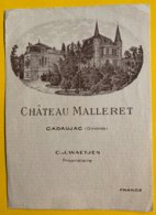 13859 - Château Malleret Cadaujac - Bordeaux
