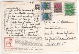 """4 Beaux Timbres , Stamps """" Fleurs """"  Sur Cp , Carte , Postcard Du 13/08/1979 - 1952-.... Règne D'Elizabeth II"""