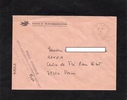 LSC 1987 - Cachet  C.E.S.A  PARIS EVANGILE & Griffe PARIS EVANGILE - Centre D'Exploitation Des Services Ambulants - Posta Ferroviaria