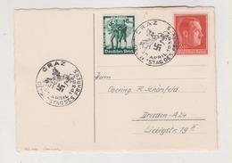 GERMANY,AUSTRIA 1938 GRAZ Postcard - Covers & Documents