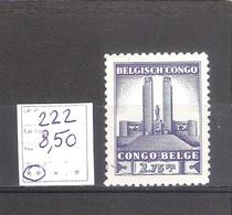 Congo Belge N° 222 ** MNH  Cote COB : 8,50 € . - 1923-44: Neufs