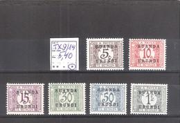 Ruanda Urundi N° TX 9/14 * MH  Cote COB : 5,40 € . - Ruanda-Urundi