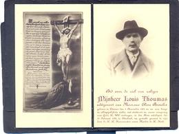Dhr. Louis Thoumas. Geb. Te THIENEN 1881 En Overleden Te ETTERBEEK 1935 - Devotieprenten