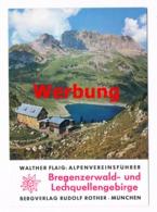 043 Werbekarte Bergverlag Rother Bregenzerwald Alpenverein - Pubblicitari