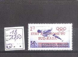 Sud-Kasaï N° 18 ** MNH  Cote COB : 17,50 € . - South-Kasaï