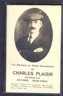 Charles Plaisir - Geboren Te BEERST En Overleden Te MAUBEUGE (Frankrijk) 1929 - Devotieprenten