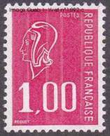 France N° 1892 C ** Marianne De Béquet - 1f00 Rouge - Variété Gomme Tropicale - Nuevos