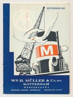 Meter Brochure Netherlands 1955 Shipping Company Muller And Co. - Sailing List Rotterdam - World - Schiffe