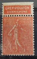 France N° 199 Neuf **. Timbre De Carnet. Bande Publicitaire Publicité Pub. - Advertising