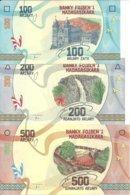 MADAGASCAR 100-200-500 ARIARY ND2017 UNC P 97-98-99 (  3 Billets ) - Madagascar