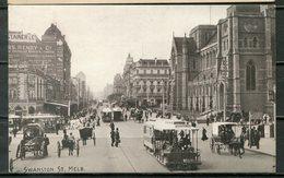 Stationary Postcard MELBOURNE, Swanston Street - See Scan - Melbourne