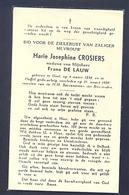 Marie Josephine Crosiers. Geb. Te Geel 1858 En Overl. TeDuffel 1959 (101 Jaar) - Devotieprenten
