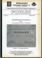 Forum Nr. 11 ArGE NDP September 1985 - Telegraphie -Formulare Des Norddeutschen Bundes Von Klaus Pumpenmeier - Philately And Postal History